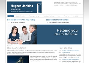 Web design for a growing South Wales legal group